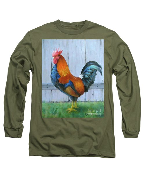 Proud Rooster Long Sleeve T-Shirt by Oz Freedgood