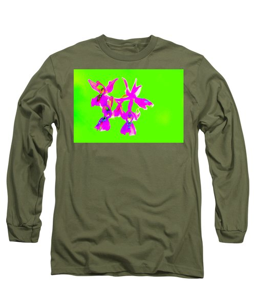 Green Provence Orchid  Long Sleeve T-Shirt by Richard Patmore