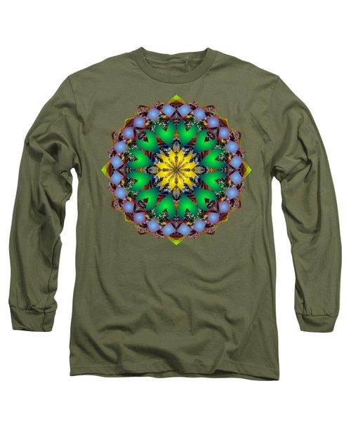 Psychedelic Mandala 003 A Long Sleeve T-Shirt by Larry Capra