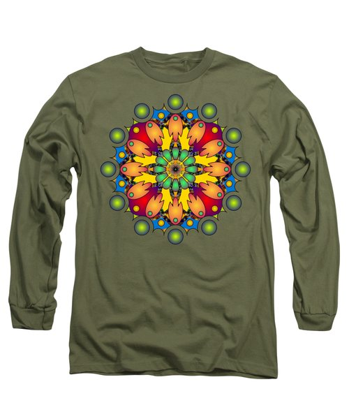 Psychedelic Mandala 009 A Long Sleeve T-Shirt by Larry Capra