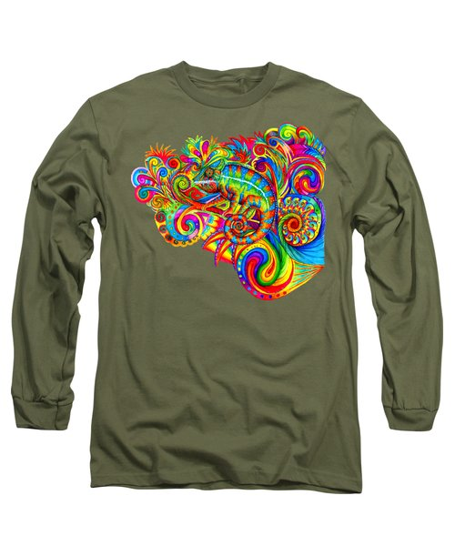 Psychedelizard Long Sleeve T-Shirt by Rebecca Wang