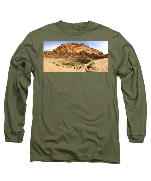 Long Sleeve T-Shirt featuring the photograph Pueblo Bonito Kiva Ruins by Adam Jewell