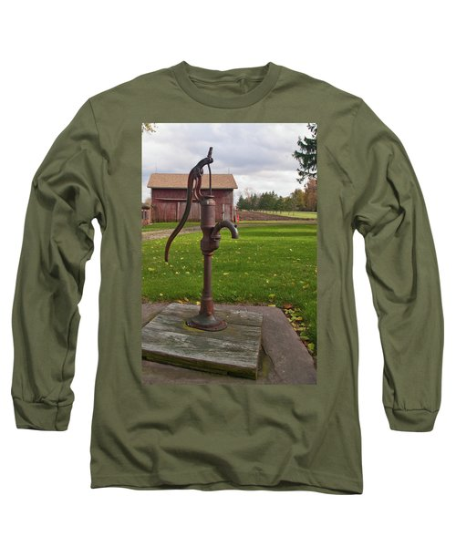 Long Sleeve T-Shirt featuring the photograph Pump 13951 by Guy Whiteley