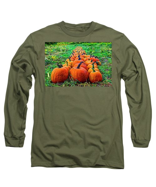 Pumpkin Patch Long Sleeve T-Shirt by Dale R Carlson