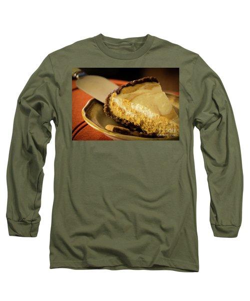 Long Sleeve T-Shirt featuring the photograph Pumpkin Pie Cheese Cake by Deborah Klubertanz
