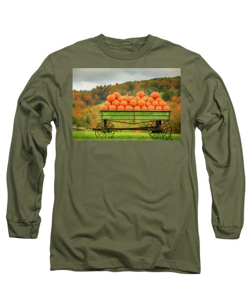 Pumpkins On A Wagon Long Sleeve T-Shirt