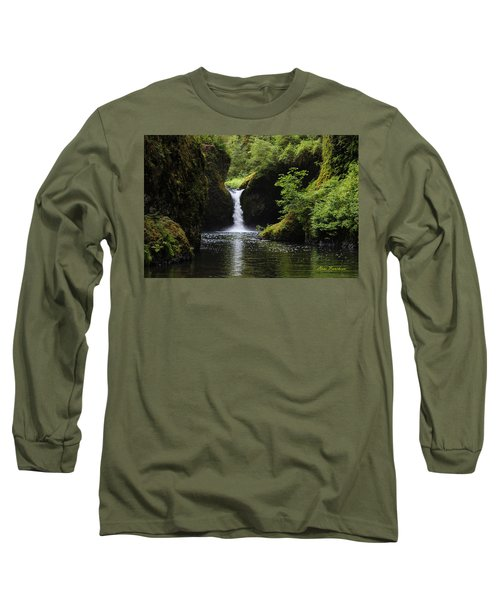Punchbowl Falls Signed Long Sleeve T-Shirt
