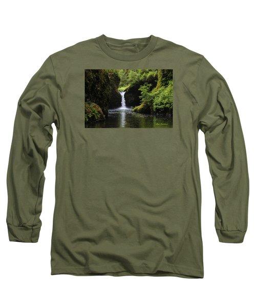 Punchbowl Falls Signed Long Sleeve T-Shirt