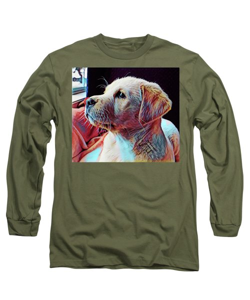 Puppy Dog Long Sleeve T-Shirt by Gary Grayson