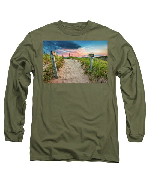 Long Sleeve T-Shirt featuring the photograph Pure Michigan Sunset by Sebastian Musial