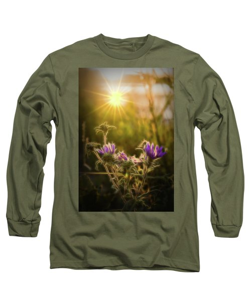 Purple Aster Glow Long Sleeve T-Shirt