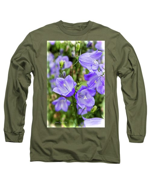 Purple Bell Flowers Long Sleeve T-Shirt by Joann Copeland-Paul