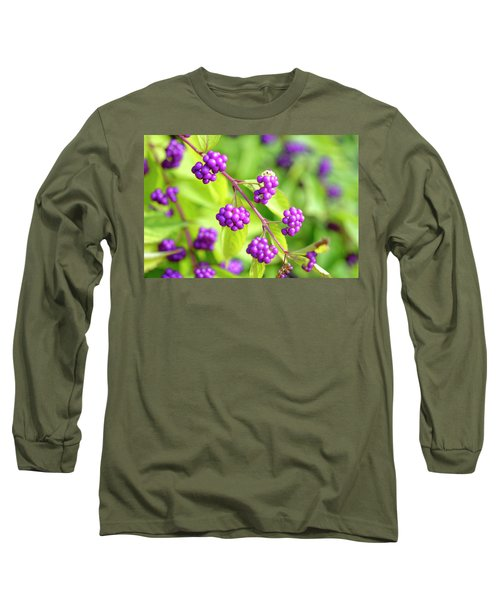 Purple Berries Long Sleeve T-Shirt
