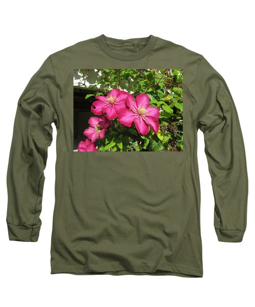 Purple Clematis  Long Sleeve T-Shirt