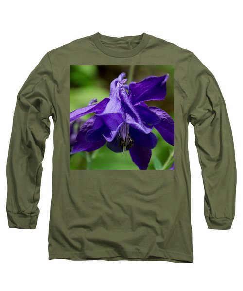 Purple Columbine Long Sleeve T-Shirt