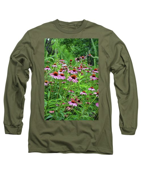 Purple Coneflower  Long Sleeve T-Shirt by Eva Kaufman