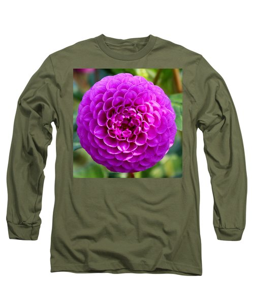 Purple Dahlia Long Sleeve T-Shirt