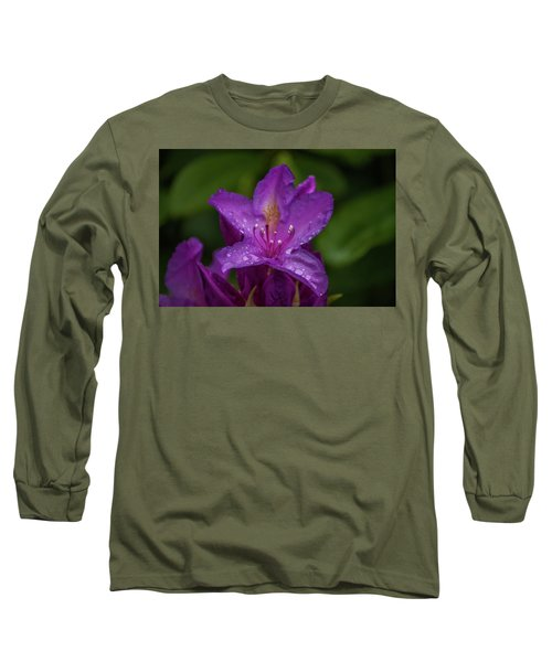 Long Sleeve T-Shirt featuring the photograph Purple Flower 7 by Timothy Latta