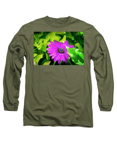 Purple Flower Long Sleeve T-Shirt