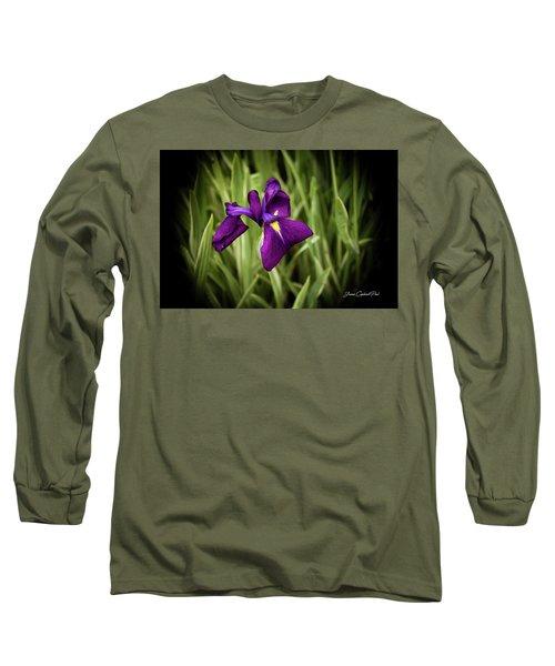 Purple Japanese Iris Long Sleeve T-Shirt