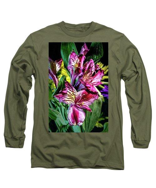 Purple Lily Long Sleeve T-Shirt by Mark Dunton