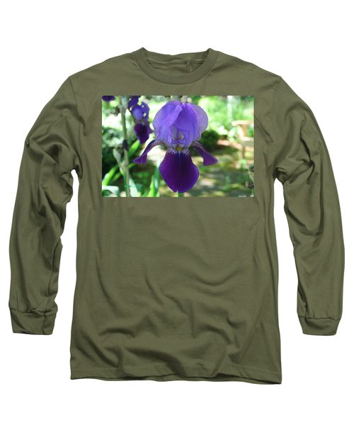Long Sleeve T-Shirt featuring the digital art Purple Pleaser by Barbara S Nickerson