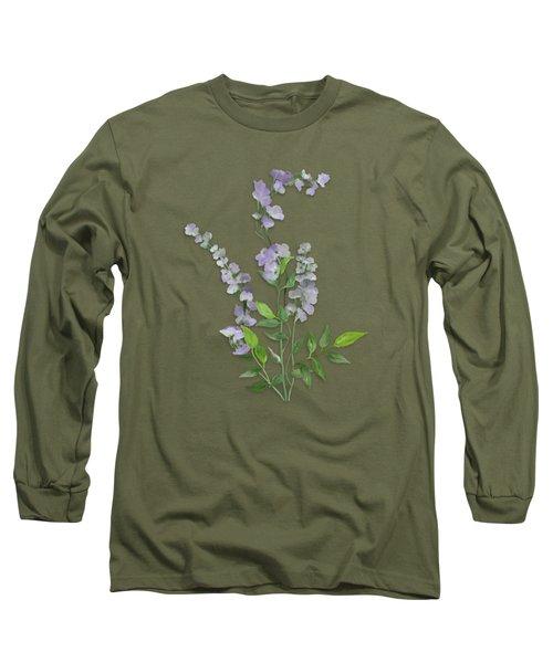 Purple Tiny Flowers Long Sleeve T-Shirt