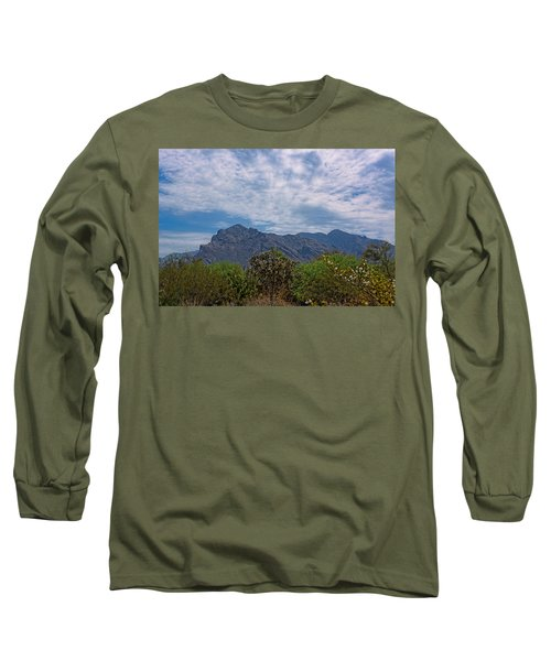 Long Sleeve T-Shirt featuring the photograph Pusch Ridge Morning H26 by Mark Myhaver