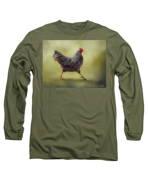 Put Your Right Foot In Long Sleeve T-Shirt by Kathy Russell