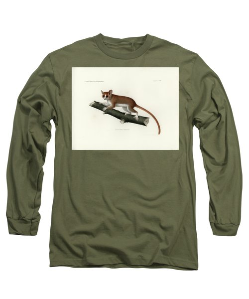 Pygmy Mouse Lemur Long Sleeve T-Shirt by Hugo Troschel