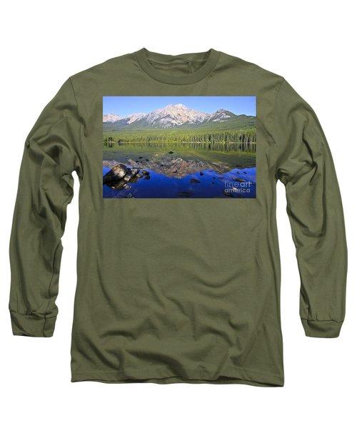 Pyramid Lake Reflection Long Sleeve T-Shirt