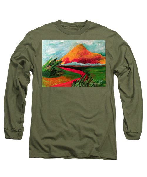 Pyramid Mountain Long Sleeve T-Shirt by Elizabeth Fontaine-Barr