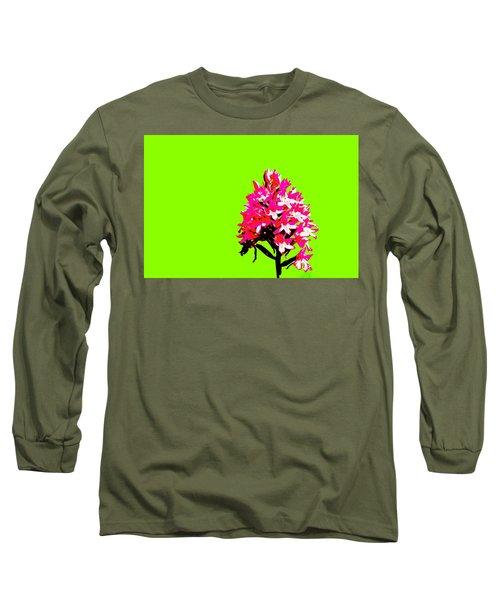 Green Pyramid Orchid Long Sleeve T-Shirt by Richard Patmore