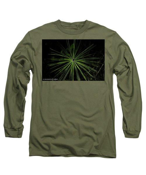 Pyrotechnics Or Pine Needles Long Sleeve T-Shirt by Stefanie Silva