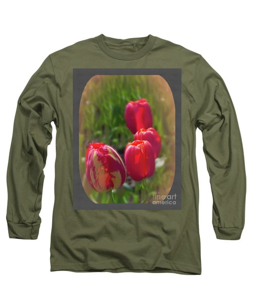 Quad Tulips Long Sleeve T-Shirt by Ansel Price