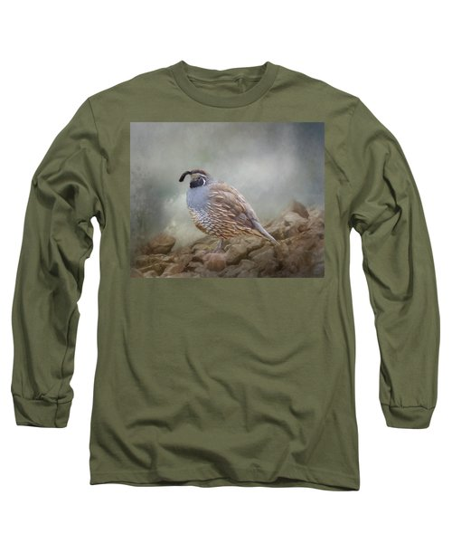 Quail On The Rocks Long Sleeve T-Shirt