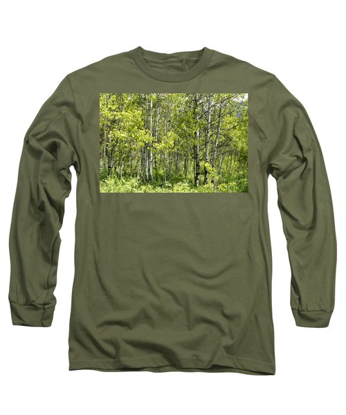 Quaking Aspens 2 Long Sleeve T-Shirt by Cynthia Powell