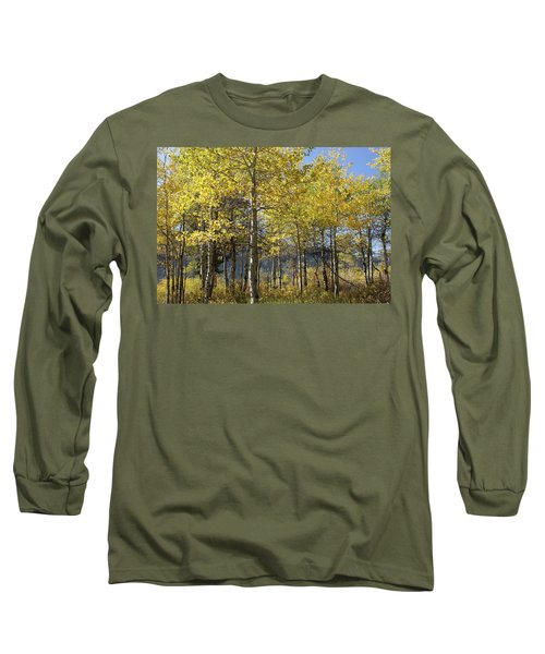 Quaking Aspens Long Sleeve T-Shirt by Cynthia Powell