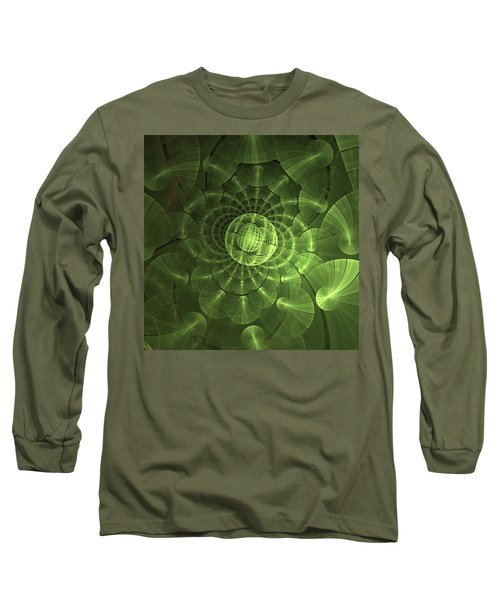 Long Sleeve T-Shirt featuring the digital art Quantum Plasma Signature by Lea Wiggins