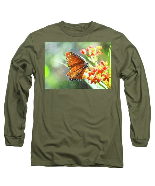 Queen Butterfly Long Sleeve T-Shirt by Inspirational Photo Creations Audrey Woods