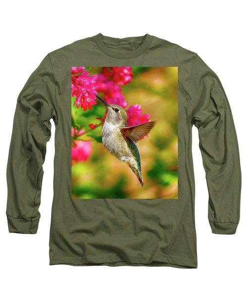 Quick Lunch Long Sleeve T-Shirt by Sheldon Bilsker