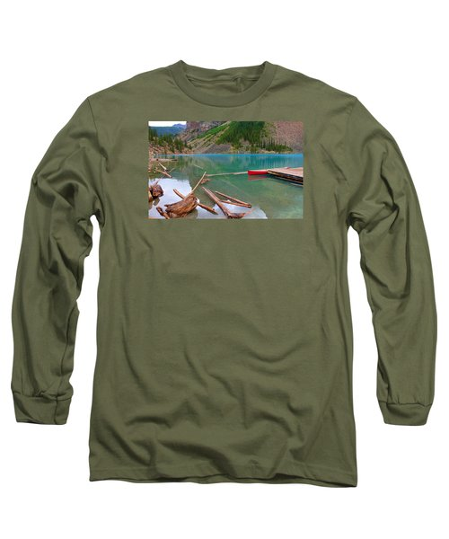 Moraine Lake I, Alberta Long Sleeve T-Shirt by Heather Vopni