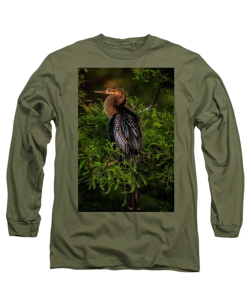 Quietude Long Sleeve T-Shirt by Cyndy Doty