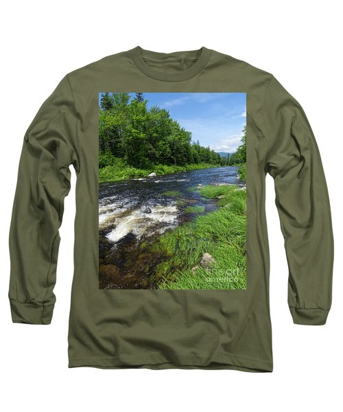 Quill Pond Brook Near Rangeley Maine  -70748 Long Sleeve T-Shirt