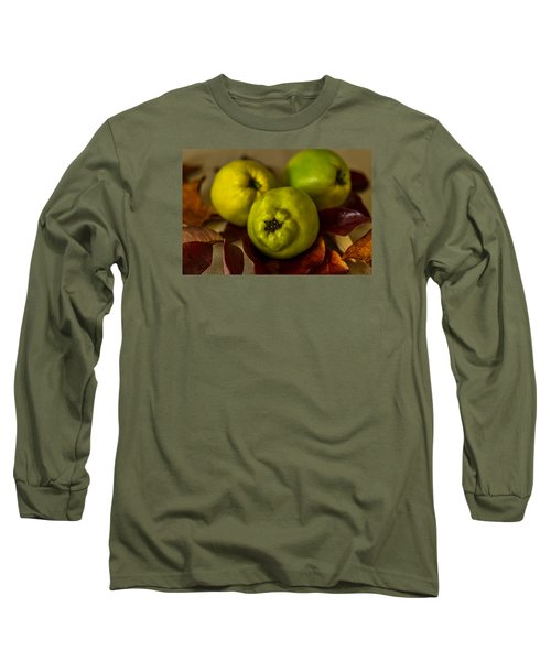 Long Sleeve T-Shirt featuring the photograph Quince Still Life by Sabine Edrissi