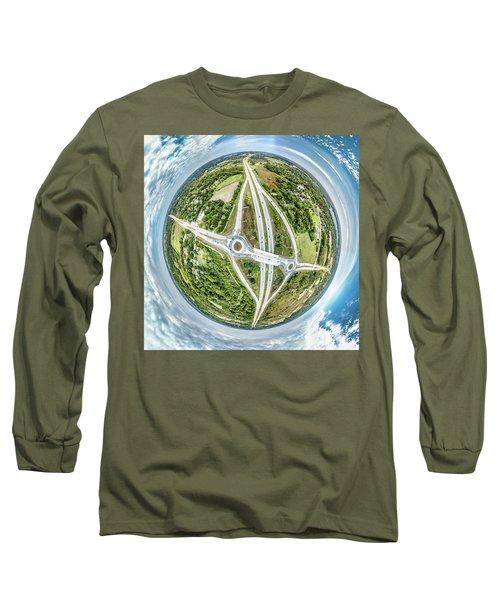 Long Sleeve T-Shirt featuring the photograph Racine Avenue by Randy Scherkenbach