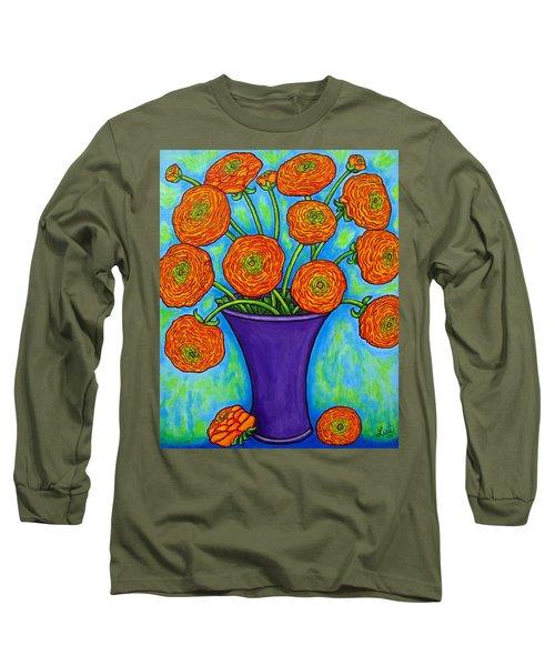 Radiant Ranunculus Long Sleeve T-Shirt