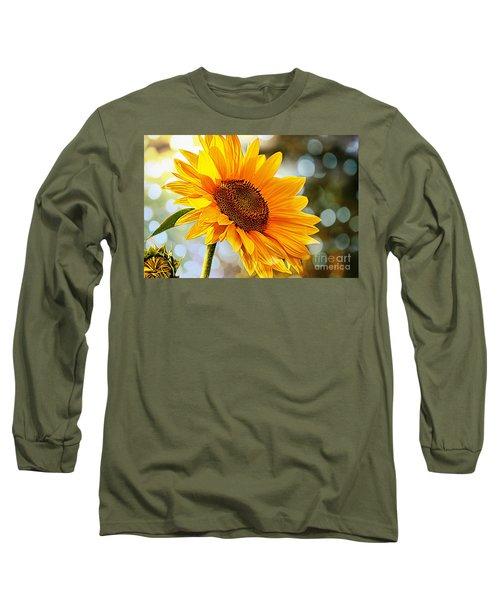Radiant Yellow Sunflower Long Sleeve T-Shirt