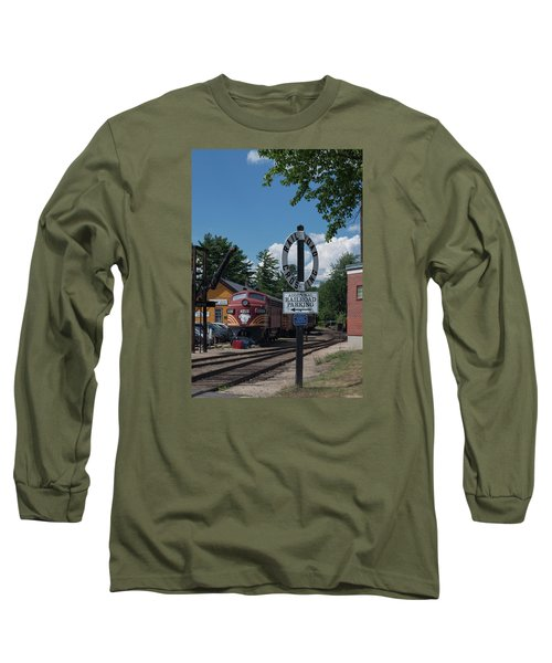 Railroad Crossing Long Sleeve T-Shirt by Suzanne Gaff