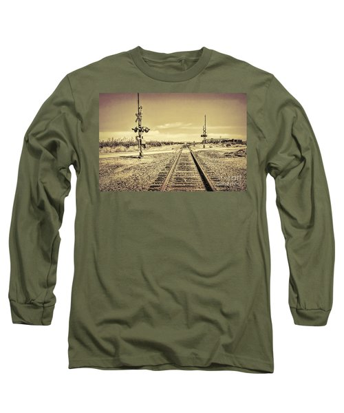 Railroad Crossing Textured Long Sleeve T-Shirt